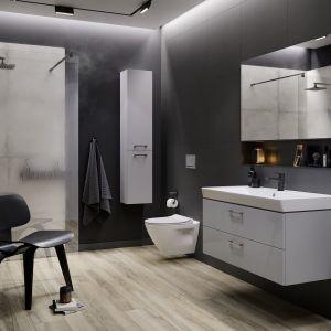 Kolekcja Mille Cersanit daje swobodę projektowania pomieszczeń, pozwala zaaranżować zarówno obszerniejszą łazienką dla rodzin czy singla, jak i małą toaletę. Fot. Cersanit