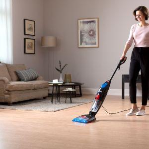 3. Oszczędzaj czas odkurzaj, myj i susz podłogi w jednym cyklu.