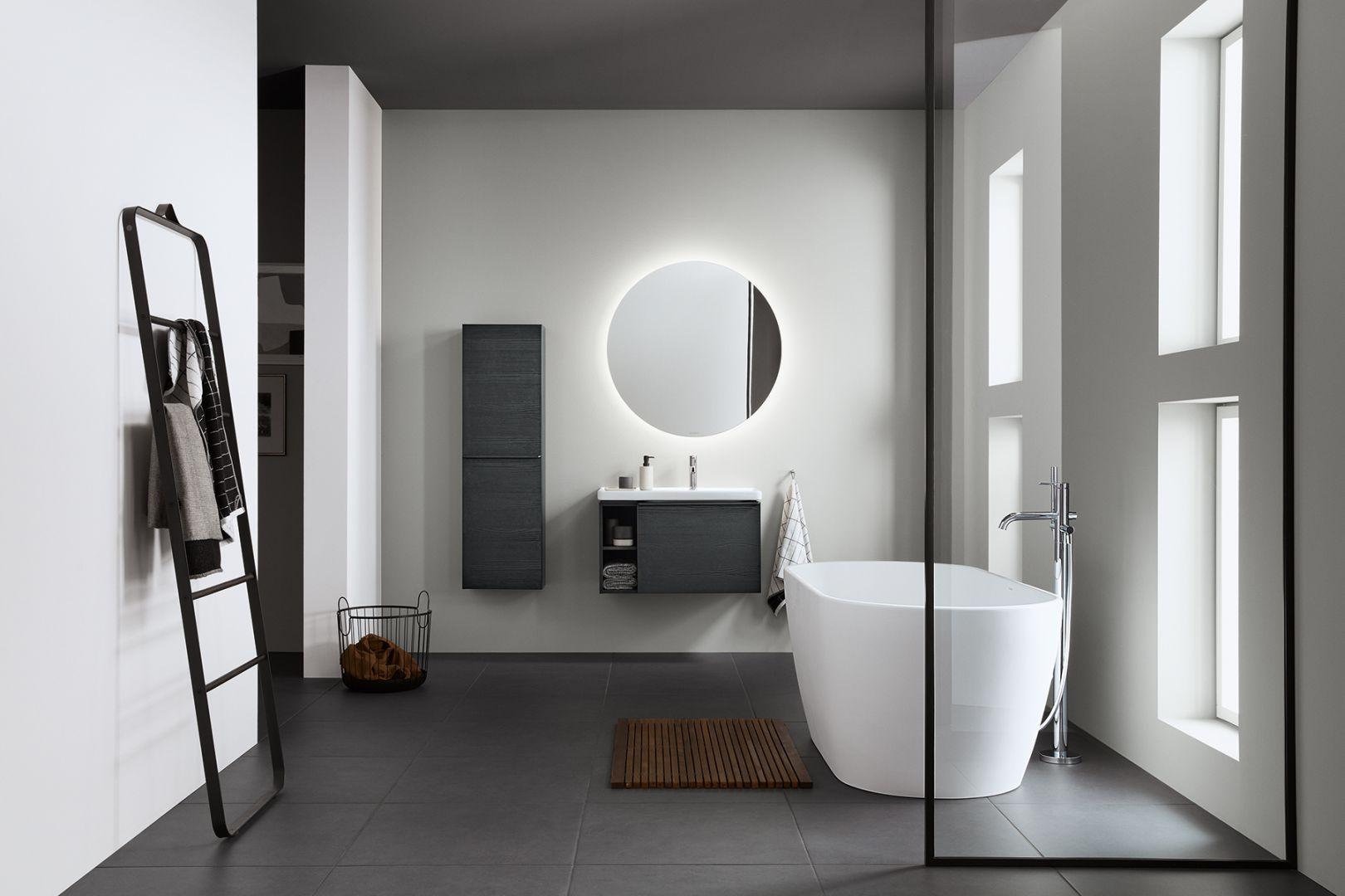D-Neo to nowa kompletna seria do wyposażenia łazienki, także niewielkiej. Projektant: Bertrand Lejoly. Producent: Duravit. Nowość 2021
