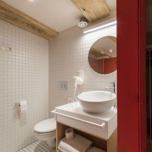 Projekt oświetlenia do łazienki. Łazienki w apartamentach Monka w Toruniu, projekt: Studio Znamy Się. Fot. Krzysztof Zgoła. Mat. prasowe Labra