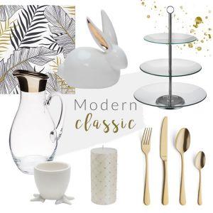 Stół na Wielkanoc w stylu modern classic. Fot. Salony Agata