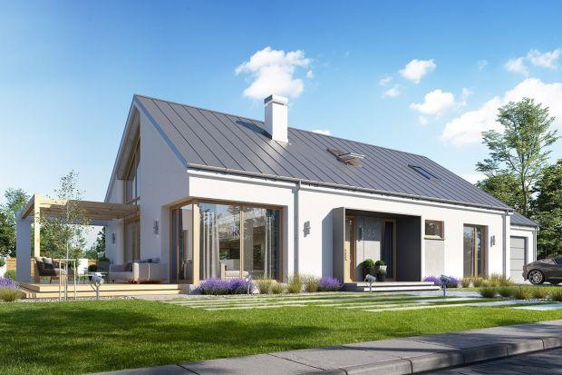 Komfortowy, wygodny dom w nowoczesnym stylu. Budynek jest energooszczędny, ma prostą konstrukcję, będzie więc łatwy w budowie iniedrogiw utrzymaniu.