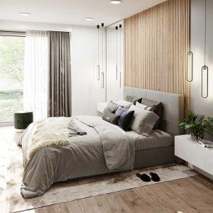 Z drugiej strony domu mamy trzy sypialnie. Projekt: arch. Michał Gąsiorowski. Fot. MG Projekt