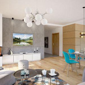 Dobrze rozplanowane pomieszczenia zapewniają wygodę w użytkowaniu 3-5 osobowej rodzinie. Projekt: pracownia Archand. Fot. Archand