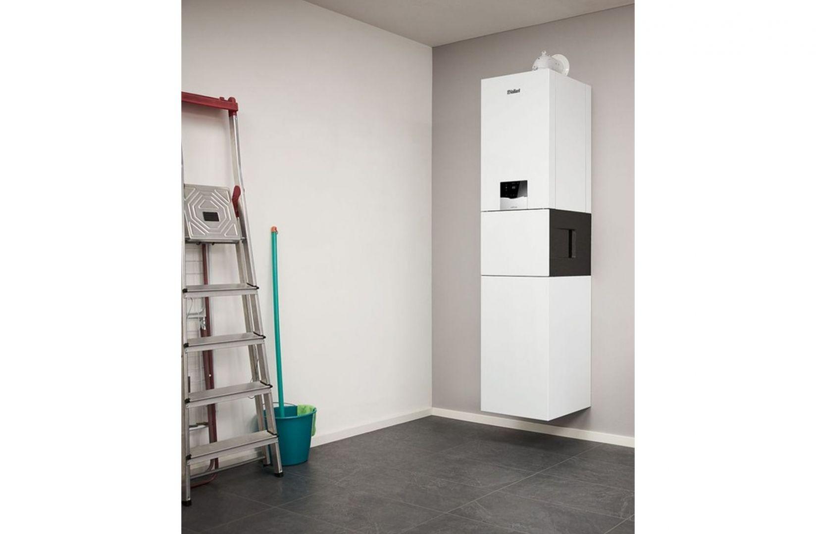 Jeżeli mamy do dyspozycji kotłownię, w której możemy umieścić zasobnik ciepłej wody użytkowej i kocioł jednofunkcyjny – mamy najlepsze rozwiązanie. Na zdjęciu: gazowy, wiszący kocioł kondensacyjny, jedno- i dwufunkcyjny ecoTEC plus. Fot. Vaillant