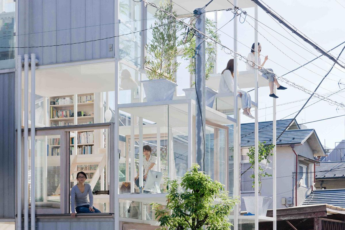 Transparent House - przezroczysty dom w Tokio. Fot. i zdjęcia: Sou Fujimoto Architects
