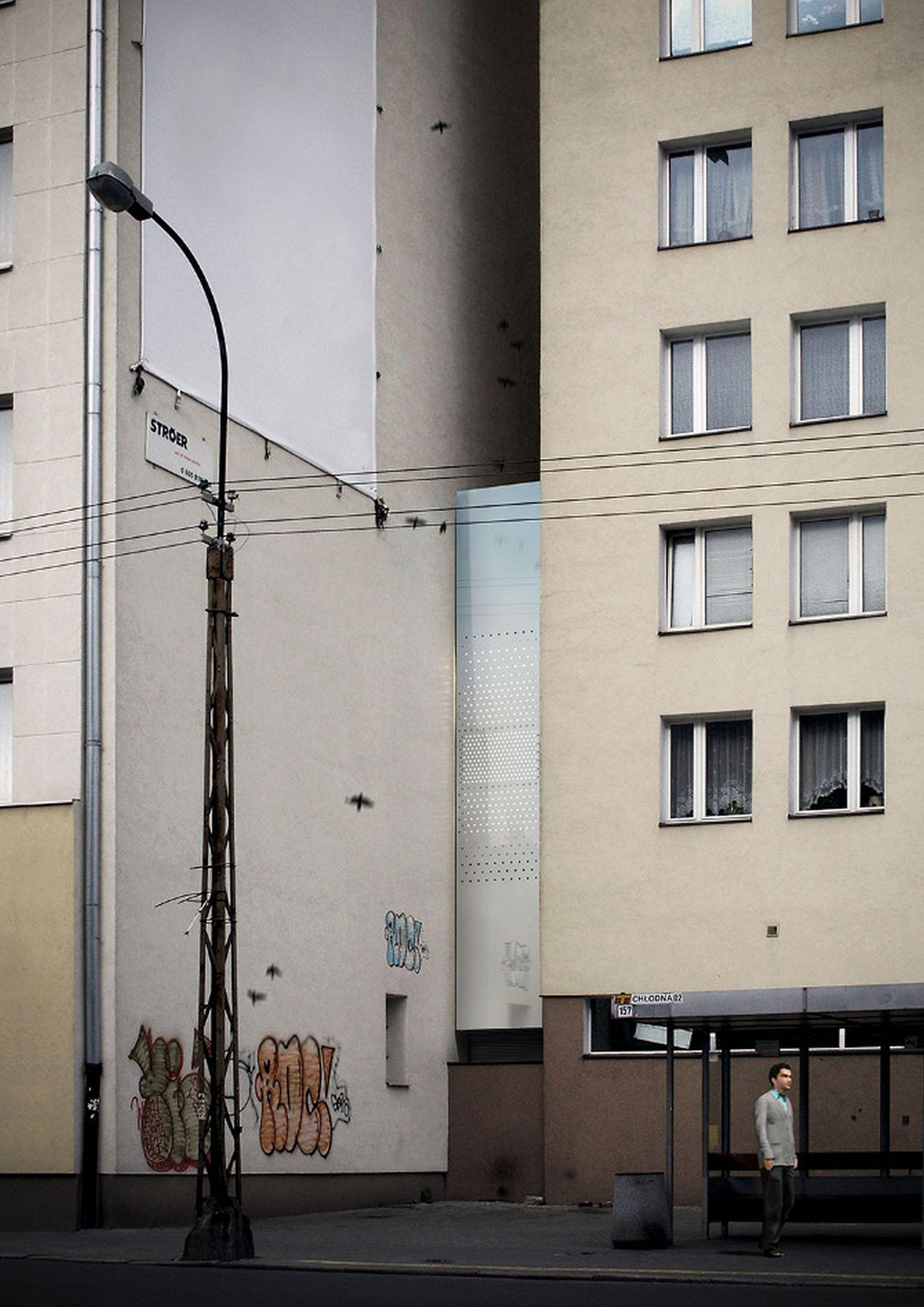 Dom Kereta - najwęższy dom w Polsce, zbudowany w szczelinie między dwoma blokami w Warszawie. Projekt: Jakub Szczęsny. Fot. www.domkereta.pl