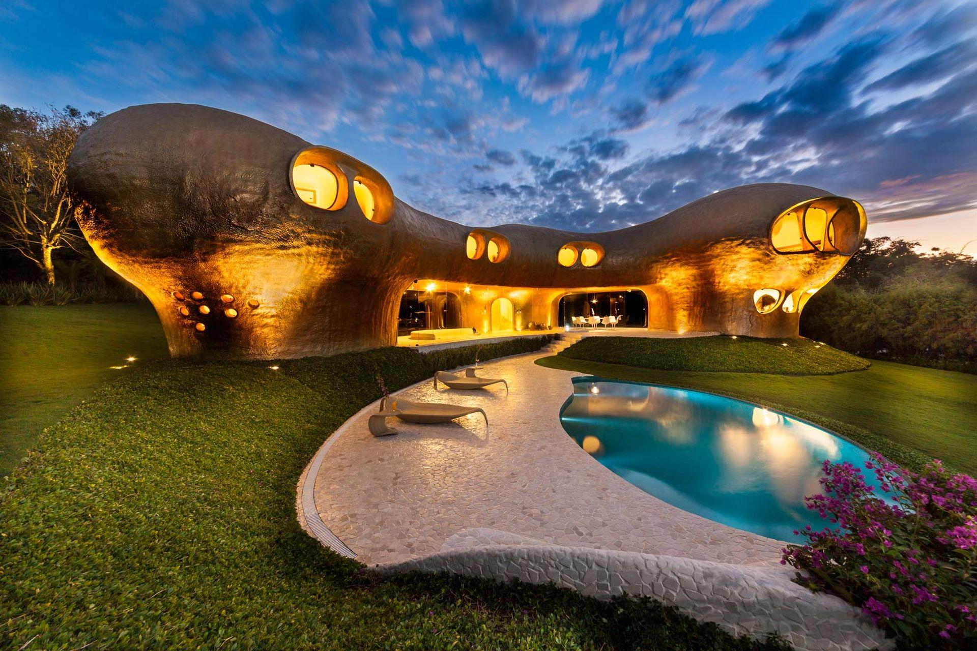Amoeba House. Projekt i zdjęcia: Arquitectura Orgánica