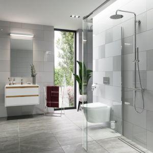 Zestaw prysznicowy termostatyczny Rain Round, ścianka gięta seria Vidoq. Fot. Excellent