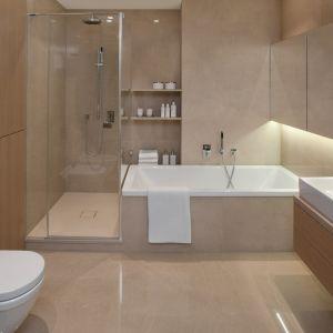 Przytulna łazienka dla dwojga. Projekt de novo Park Lane. Fot. Hanna Długosz