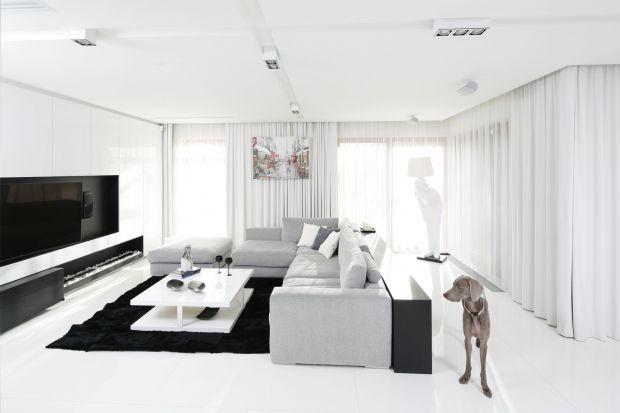 Nowoczesny salon: 15 pięknych projektów białych wnętrz. Zobacz zdjęcia!