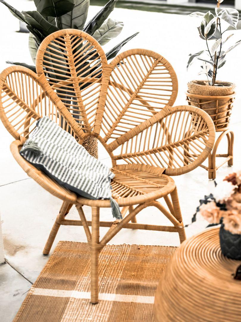 Kwiat fotel Monna Flower marki Monnarita. Ręcznie robiony ze 100% naturalnego rattanu. Cena: 1190 zł, Monnarita