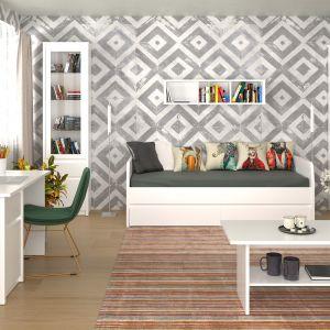 Mali uczniowie zadowolą się niewielkim biurkiem, z jedną szufladą bądź szafką. Z kolei dla nastolatków dobrym wyborem będzie większe biurko, z półkami i szufladami na książki oraz pomoce naukowe. Na zdjęciu: meble z kolekcji Erden. Fot. Salony Agata