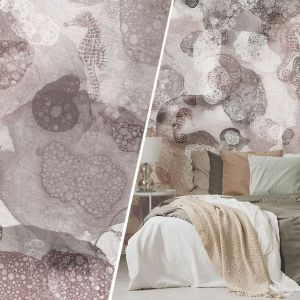 Bardzo malarska, abstrakcyjna tapeta Bubblesea. Cena: od 159 zł/m2. Marka: Walltime