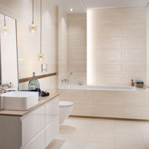 Płytki do łazienki z kolekcji Calm Organic dostępne w ofercie marki Cersanit. Fot. Cersanit