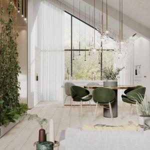 O projekt wnętrz inwestorzy (para z dwojgiem małych dzieci) zwrócili się do modeko.studio w trakcie budowy swego 220-metrowego domu. Projekt Modeko.studio