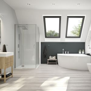 Zaprojektowanie łazienki dla rodziny to nie lada zadanie. Bardzo ważne jest więc dobranie wszystkich elementów tak, aby każdy mógł z łazienki wygodnie korzystać. Fot. Sanplast