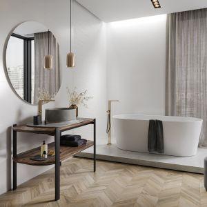 Kolekcja Ola Bianca to prawdziwy synonim elegancji w satynowej bieli. Na zdj. płytki Ola Bianca Opoczno