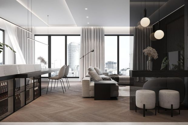 Ponadczasowa biel i czerń oraz kolory ziemi - ten projekt luksusowego, nowoczesnego wnętrza to pomysł dla miłośników rozwiązań na lata i wysokiej jakości. Zobaczcie projekt!