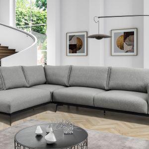 Znakomitym uzupełnieniem sofy Tristan będzie narożnik o tej samej nazwie. Zestawienie obu tych wariantów w dużym salonie przysporzy mu z pewnością charakteru modernistycznego. Fot. Meble Marzenie