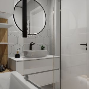 Łazienkowe trendy. Popularność stylu loftowego wciąż nie spada, rośnie za to zainteresowanie tego typu aranżacjami w przestrzeniach łazienkowych. Projekt: Justyna Nabielec. Fot. Luxrad