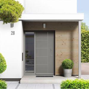 Wybierane przez nas drzwi powinny zapewniać doskonałą ochronę oraz odporność na działanie promieniowania UV, opadów atmosferycznych, a także wiatru i skrajnych temperatur. Na zdjęciu: drzwi zewnętrze z kolekcji Avangarde. Fot. Awilux