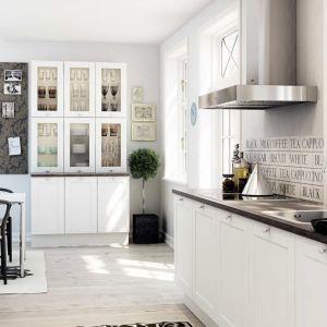 Możemy postawić na kuchnię bez górnych szafek, a dodatkowo przechowywać naczynia w kredensie. Na zdjęciu kuchnia Classic. Fot. HTH