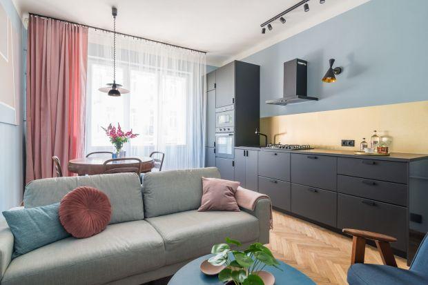 Pastelowe wnętrze na Pradze. 42-metrowe mieszkanie w pięknych kolorach
