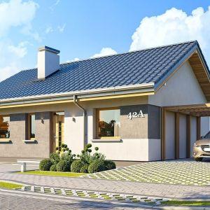 Projekt Kasia 2 to doskonała propozycja dla pragmatycznie myślących osób, planujących budowę domu łatwą, szybką i nieskomplikowaną .Projekt: arch. Michał Gąsiorowski. Fot. MG Projekt