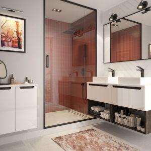 Kolekcja Stilla to elementy mebli łazienkowych, które można ze sobą dowolnie mieszać i łączyć. Fot. NAS