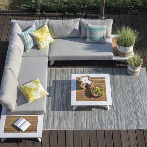 Wypoczynkowy, narożny zestaw ogrodowy Berg marki Miloo Home. Fot. Miloo Home / Domoteka