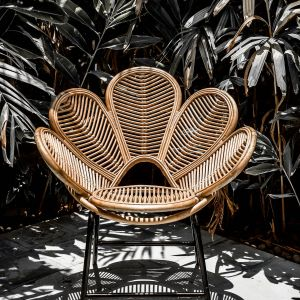 Fotel rattanowy Monnarita kwiat