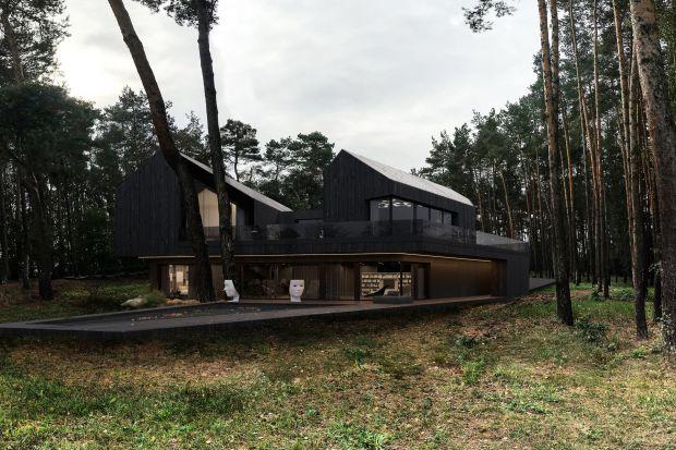 Inwestorzy kupili działkę już z domem, którego nie chcieli burzyć a przebudować. Autor tego projektu, architekt Marcin Tomaszewski skupił się więc na stworzeniu nie tylko ciekawej bryły, ale też idealnie wpasowanej w otoczenie. Mimo tego, że w