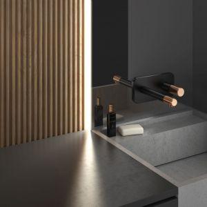 Modna łazienka. Baterie do łazienki z kolekcji Ardesia. Fot. Fdesign