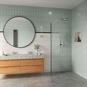 Modna łazienka. Baterie do łazienki z kolekcji Lacrima. Fot. Fdesign