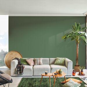 Tropikalna zieleń - jeden z modnych kolorów ścian w 2021 roku. Fot. Dulux