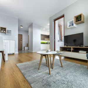 Modna podłoga w salonie. Fot. Dekorian Home Ofloor