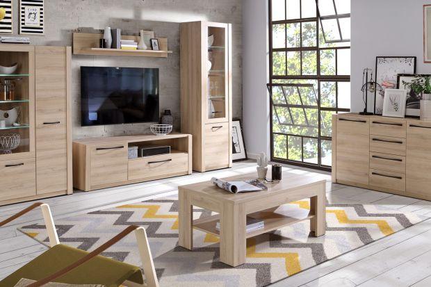 Meble do salonu: 13 modnych kolekcji w kolorze drewna. Zobacz zdjęcia!