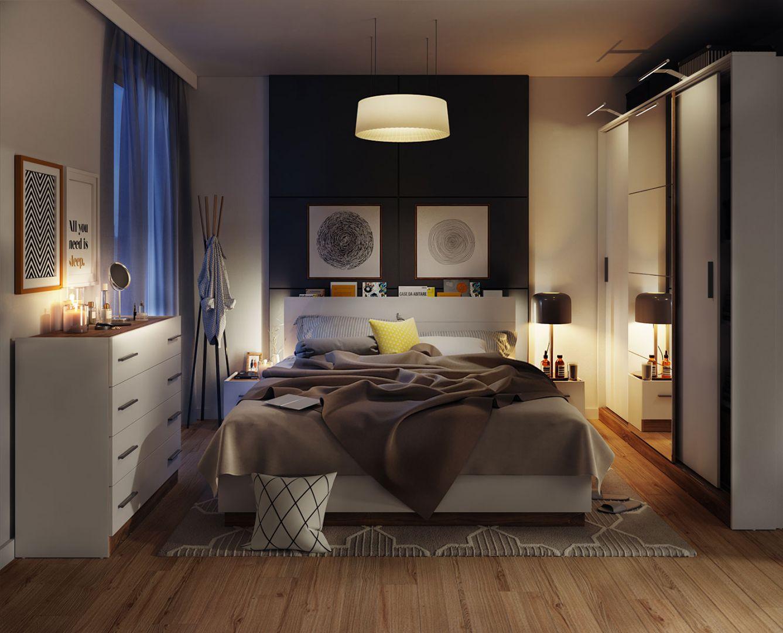 Solidne i wygodne łóżko Dentro z wysokim zagłówkiem zachęca do odpoczynku. Fot. Dignet Lenart