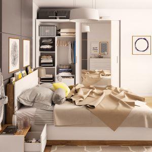 Meble Dentro o ponadczasowej stylistyce. Połączenie matowej bieli i detali w kolorze naturalnego drewna przetrwa wszelkie zmiany upodobań. Fot. Dignet Lenart