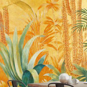 Barwny motyw egzotycznej fauny i flory zmienia tapetę Mexico w wielkoformatowy obraz. Fot. Wallpepper.
