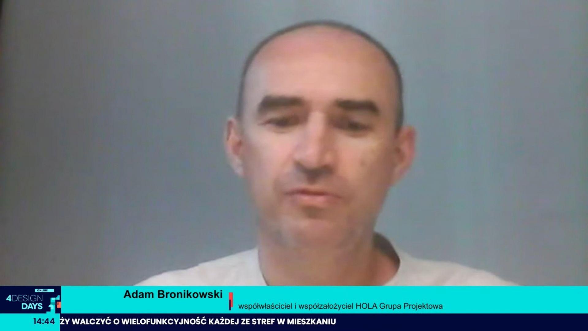 Adam Bronikowski, współwłaściciel i współzałożyciel HOLA Grupa Projektowa