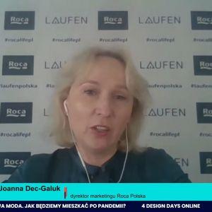 Joanna Dec-Galuk, dyrektor marketingu Roca Polska: Podczas pandemii zmieniły się nawyki Polaków i funkcje pomieszczeń sanitarnych. Rozdzielenie tych stref pozwala nam na większe możliwości projektowe, choćby na stworzenie domowego SPA.