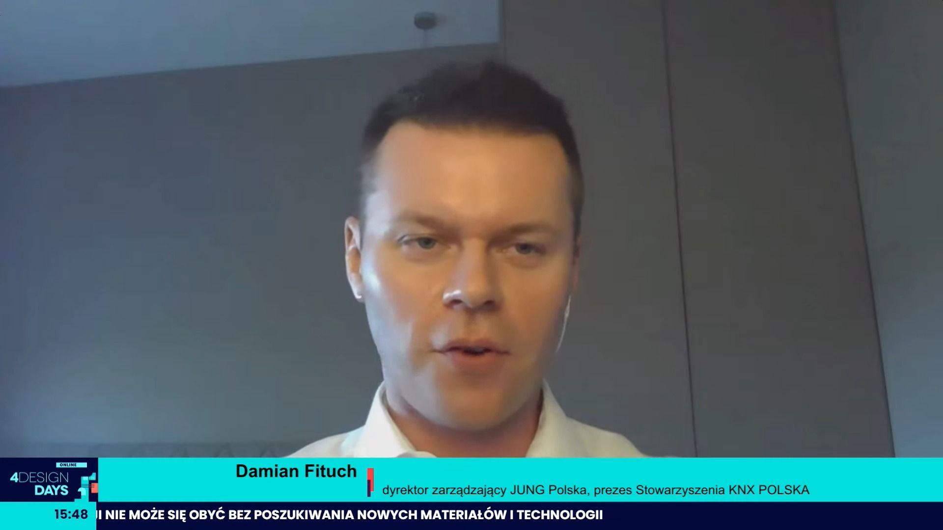 Damian Fituch, dyrektor zarządzający JUNG Polska, prezes Stowarzyszenia KNX POLSKA: Inteligentne domy i automatyka jest nieodłącznym elementem dobrego projektu.