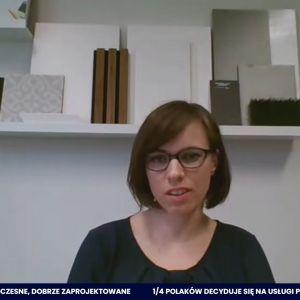Justyna Mojżyk, architekt Poliforma: Jesteśmy na etapie wielkiego odchudzania materiałów wykończeniowych.