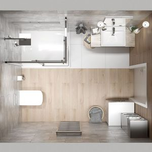 Łazienka z prysznice to świetne rozwiązania na nieduży metraż. Fot. Sanplast