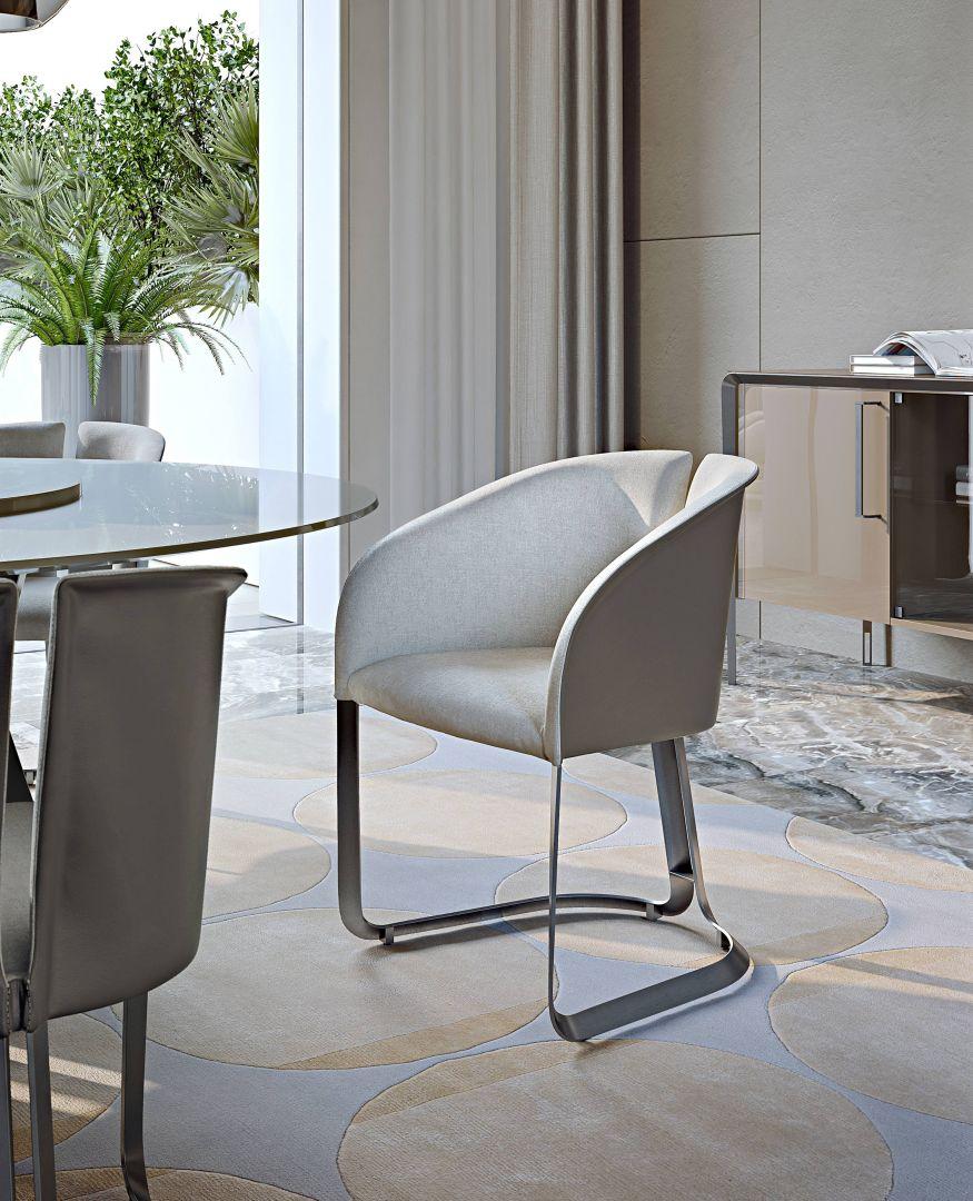 Stół okrągły do salonu z kolekcji Milano marki Turri