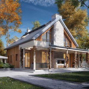 Wygląd dachu w olbrzymim stopniu wpływa na estetykę domu. Dlatego też wybrane przez nas pokrycie musi atrakcyjnie wpisywać się w ogólną stylistykę budynku. Na zdjęciu projekt Weranda 4 z pracowni MTM Styl