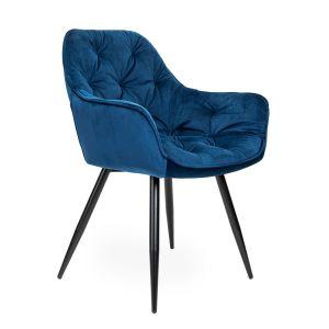 Granatowe krzesło Cherry z podłokietnikami. Cena: 319,20 zł. Homla