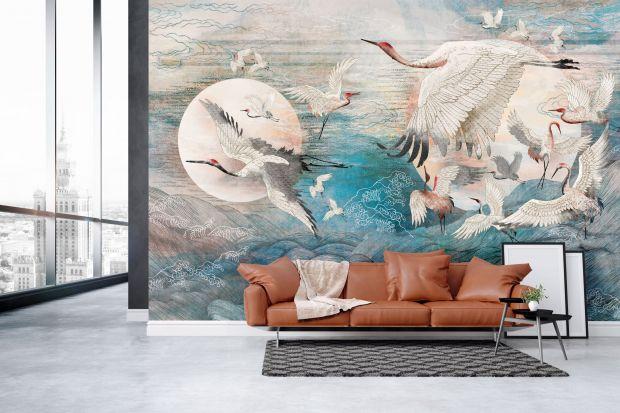 Ściana z niebieskimi akcentami to prawdziwy hit aranżacyjny 2021 roku. Jak osiągnąć taki efekt w salonie? Zobaczcie 7 ciekawych pomysłów na niebieską ścianę!